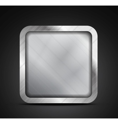 Mobile app icon - empty metallic texture box vector image vector image