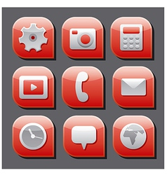mobile interface icon set vector image vector image