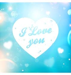 Romantic love heart vector