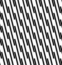 Seamless monochrome angular line pattern vector