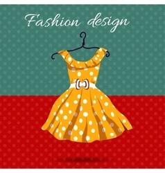 Women dress polka dot with vector