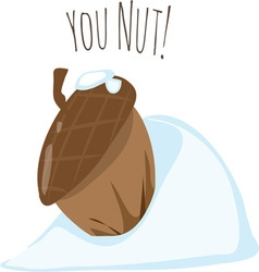 You Nut vector image