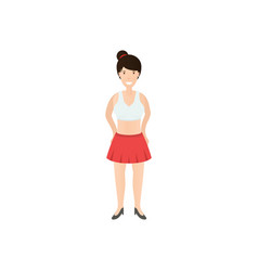 young woman in skirt vector image