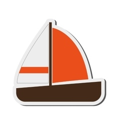 Single sailboat icon vector