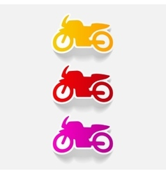 Realistic design element motorcycle vector