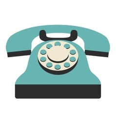 Retro phone technology design vector