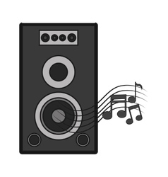 Isolated music note and speaker design vector