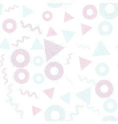 Color universal geometric seamless pattern vector image