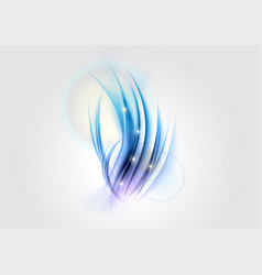 abstract white blue shape vector image