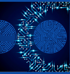 Circuit board futuristic cybernetic texture with vector