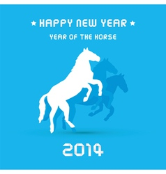 Happy new year 2014 card24 vector