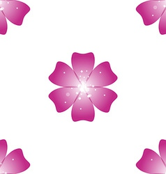 Beautiful pink flower seamless floral pattern vector