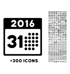 Last 2016 month day icon vector