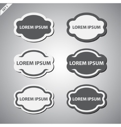 Grayscale labels set vector