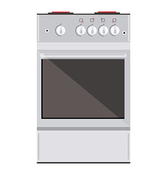 Kitchen gas stove vector