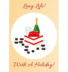 Gift card with holiday vector