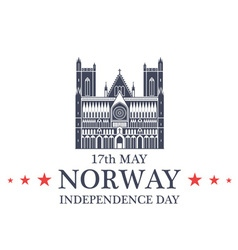 Independence day norway vector