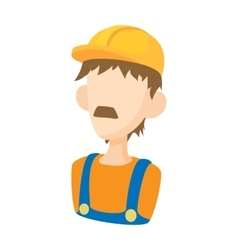 Builder icon in cartoon style vector