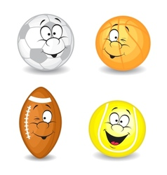 Cartoon sport balls vector