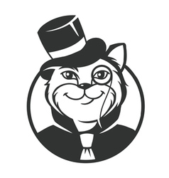 Cat gentleman vector