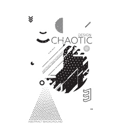 Chaotic geometric abstract background vector