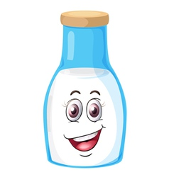 a face on a bottle vector image vector image