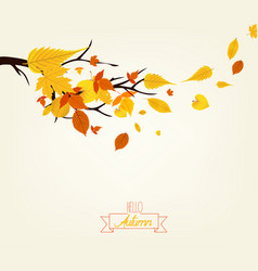 An autumn design vector