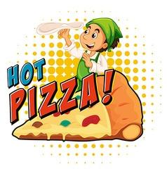 Chef making pizza dough vector