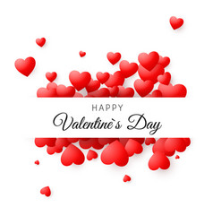 colorful card - happy valentines day romantic vector image