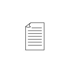 document icon eps 10 style vector image