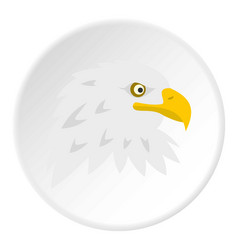Eagle icon circle vector