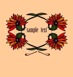 Flowers with sample text vector