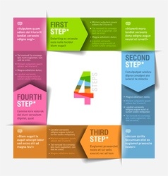 Four consecutive steps cycle vector image