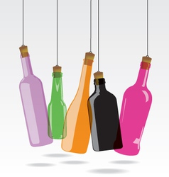 Glass bottle vector image vector image