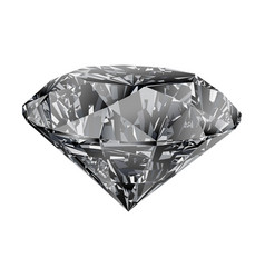 Gray diamond isolated on white background vector