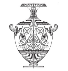 greek hydria is used as a water-pot to carry vector image vector image