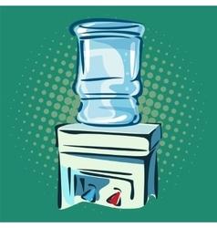 Hand drawn pop art of water cooler vector image vector image