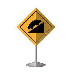 High decline traffic signal vector