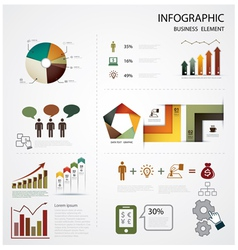 infographics business vector image vector image