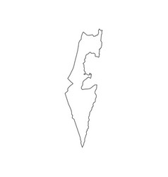 israel map silhouette vector image vector image