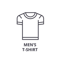 men t shirt line icon outline sign linear symbol vector image vector image