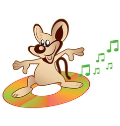 mouse music vector image vector image