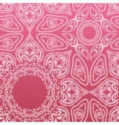 pink mandala pattern vector image vector image