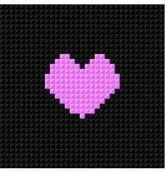 pixel art heart valentine day flat design vector image