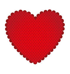 red sticker heart icon vector image vector image