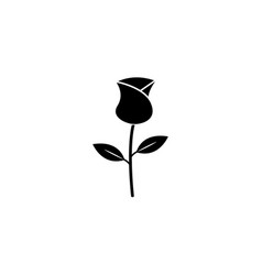 rose flower for valentines day solid icon vector image vector image