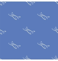 Seamless Aircraft Blue Background vector image