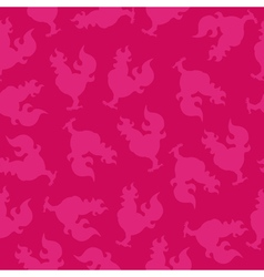 Seamless pattern with a cock silhouette or fire vector