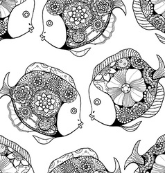 Tangle Patterns fish background vector image vector image