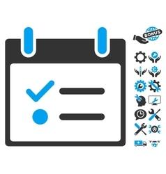 Todo list calendar day icon with bonus vector